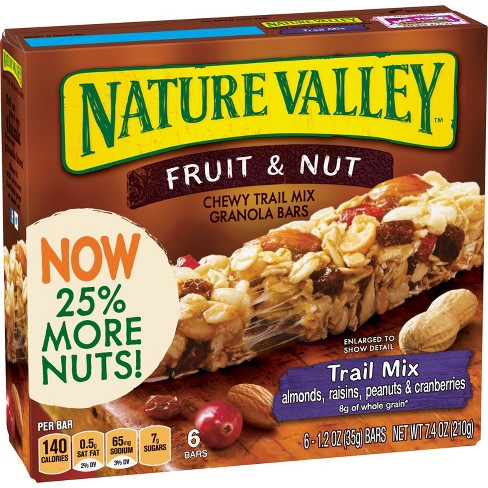 Nature Valley Chewy Trail Mix - Fruit & Nut Bars - 6ct - image 1 of 3