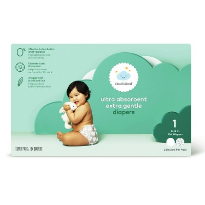 Club Pack Diapers - Size 1 (104ct)- Cloud Island™