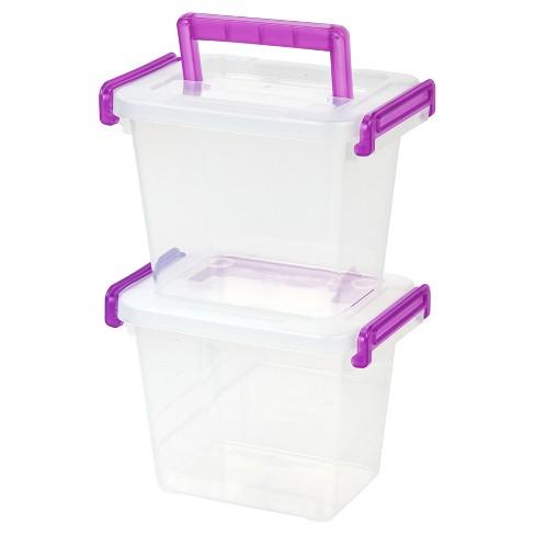 IRIS Small Latching Plastic Storage Bin - 8pk - image 1 of 5