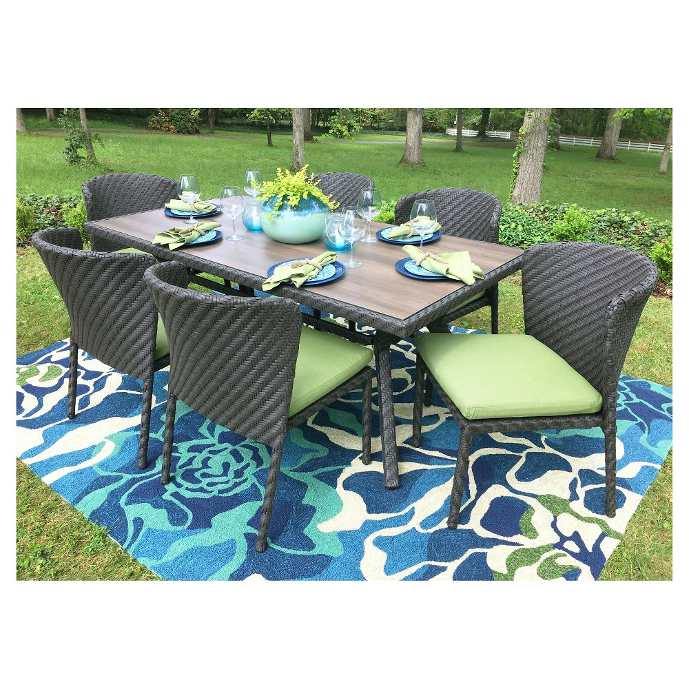 Image of 7pc Patio Dining Set AE Outdoor, Green