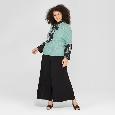 803f1d9cca8 Women s Plus Size Mid-Rise Wide Leg Palazzo Pants - Who What Wear™. Shop  all Who What Wear