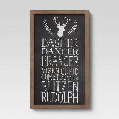 Reindeer Names Chalkboard Sign - Threshold™