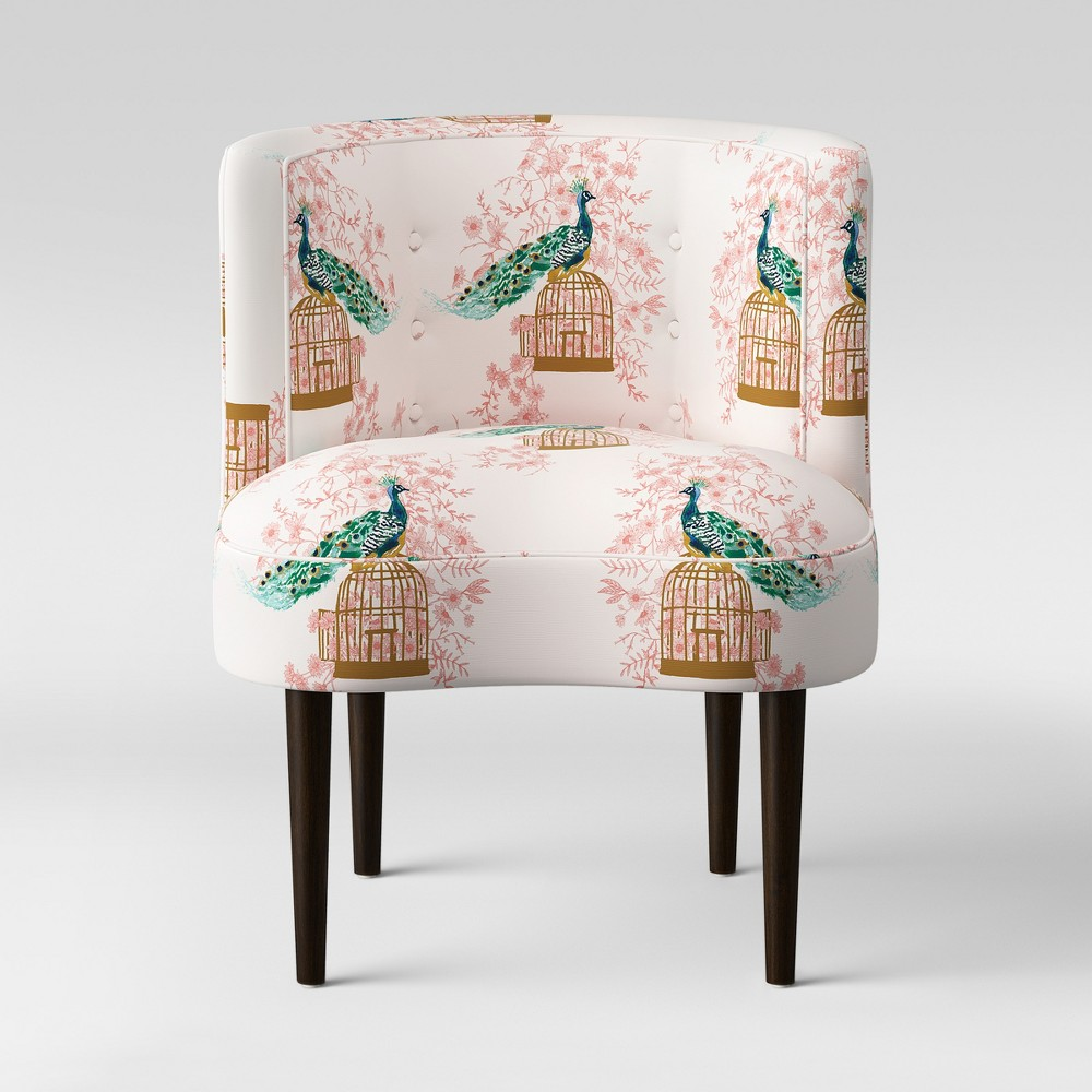 Clary Curved Back Accent Chair Peacock Blush - Opalhouse
