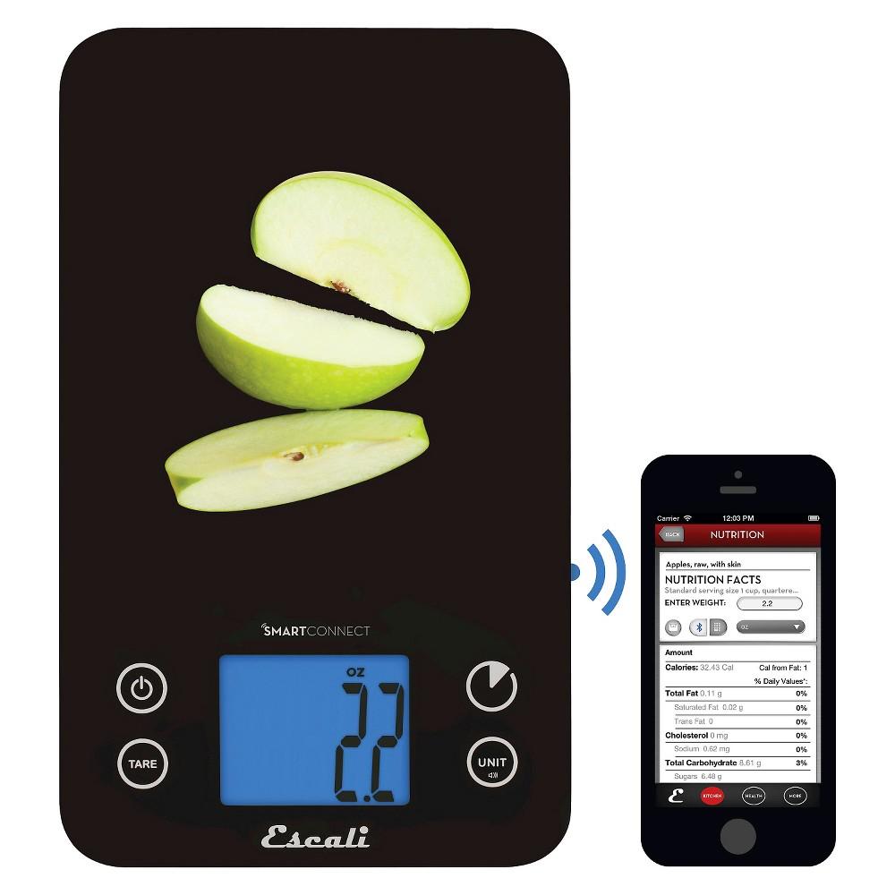 Escali SmartConnect Kitchen Scale with Bluetooth LE, Black