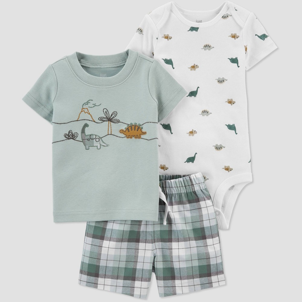 Baby Boys 39 Dino Top 38 Bottom Set Just One You 174 Made By Carter 39 S Green 3m