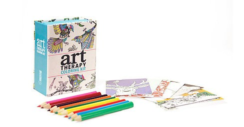 Art Therapy Coloring Kit Adult Coloring Book by Sam Loman - image 1 of 1