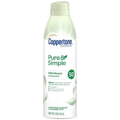 Coppertone Pure & Simple Sunscreen Spray - SPF 50 - 5oz