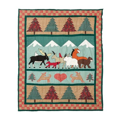 """C&F Home Friends of the Forest 50"""" x 60"""" Throw Blanket"""