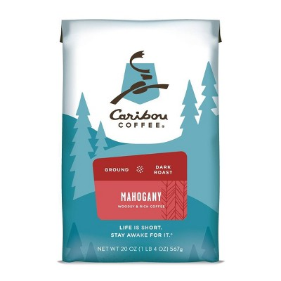 Caribou Coffee Mahogany Dark Roast Ground Coffee - 20oz