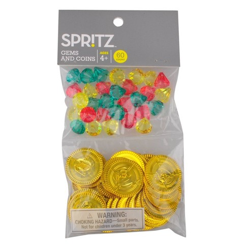 60ct Pirate Cove Bag of Diamond Gems and Coins Party Favors - Spritz™ - image 1 of 3