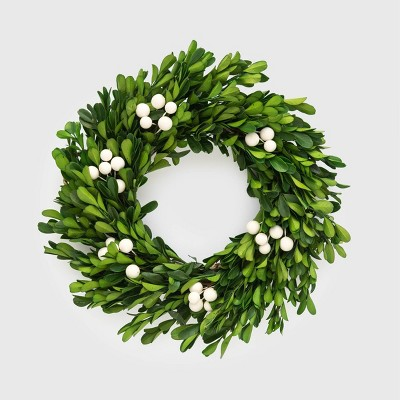 10 & 1/2in Preserved Boxwood Wreath - Sugar Paper™