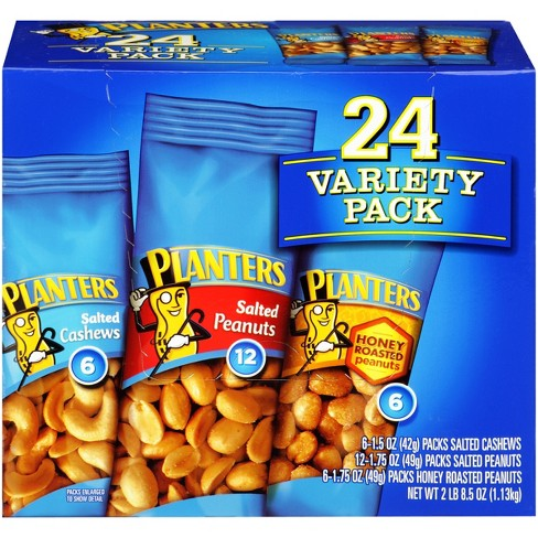 Planters Nuts Variety Pack - 8.5oz - 24ct : Target on kettle sea salt and malt vinegar, kettle tilt drains, kettle steaming rack for food with,