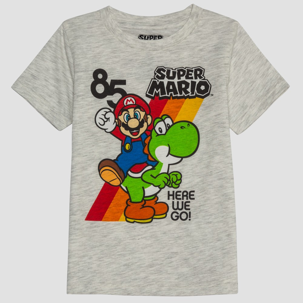 Toddler Boys Super Mario Short Sleeve Graphic T-Shirt - Beige 2T Compare