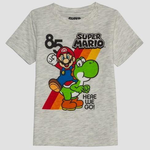Toddler Boys' Super Mario Short Sleeve T-Shirt - Beige - image 1 of 2