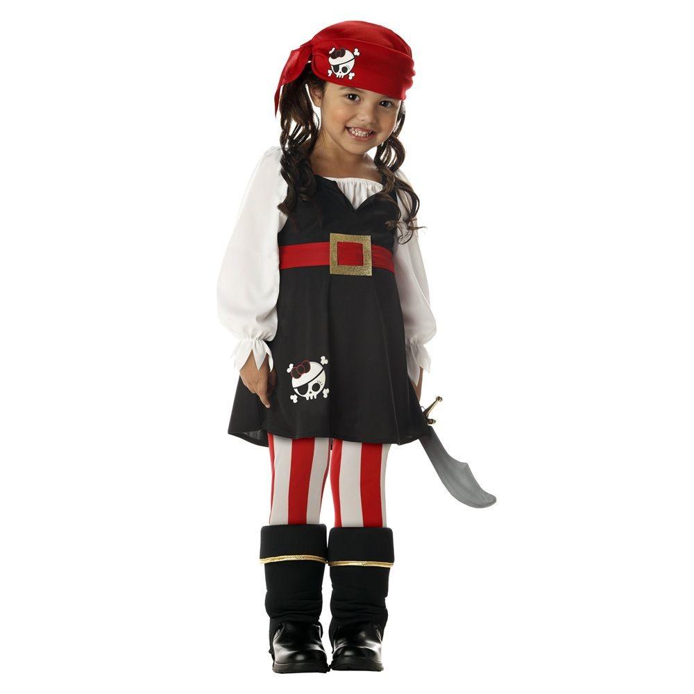 Girl's Precious Lil' Pirate Costume, Size: S(4-6)
