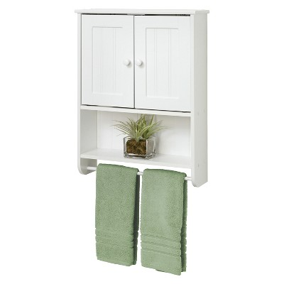 Country Cottage Wall Cabinet White Wood - Zenna Home