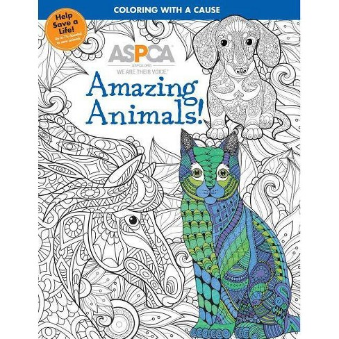 ASPCA Adult Coloring for Pet Lovers: Amazing Animals! - (Paperback) - image 1 of 1