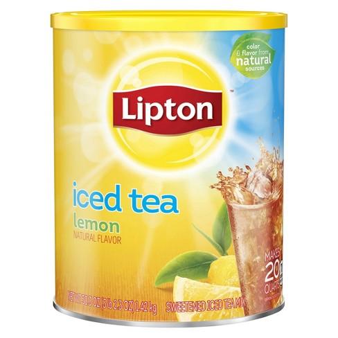 Lipton Lemon Sweetened Iced Tea Mix 20 Qt