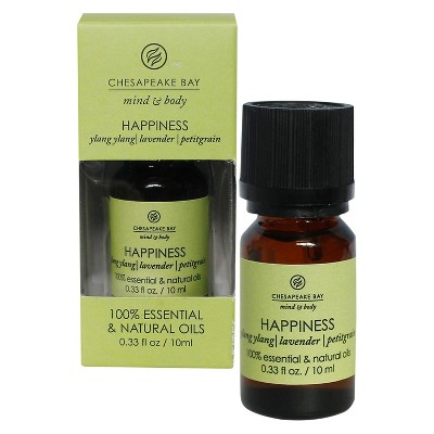 Mind & Body Essential Oil (Happiness)- Ylang Ylang/Lavender/Petitgrain 0.33oz - Chesapeake Bay Candle