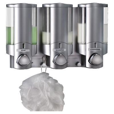 Superbe Better Living Products AVIVA Three Chamber Dispenser   Satin Silver : Target