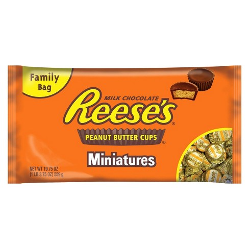 Reese's Peanut Butter Cups Miniatures Chocolate - 19.75oz - image 1 of 4