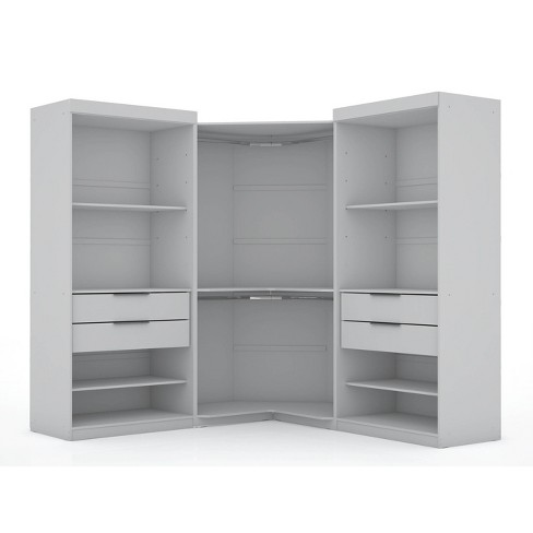 Set of 3 Mulberry Open 3 Sectional Corner Closet - Manhattan Comfort - image 1 of 4
