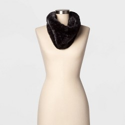 Women's Mini Faux Fur Cowl Snood - A New Day™ One Size