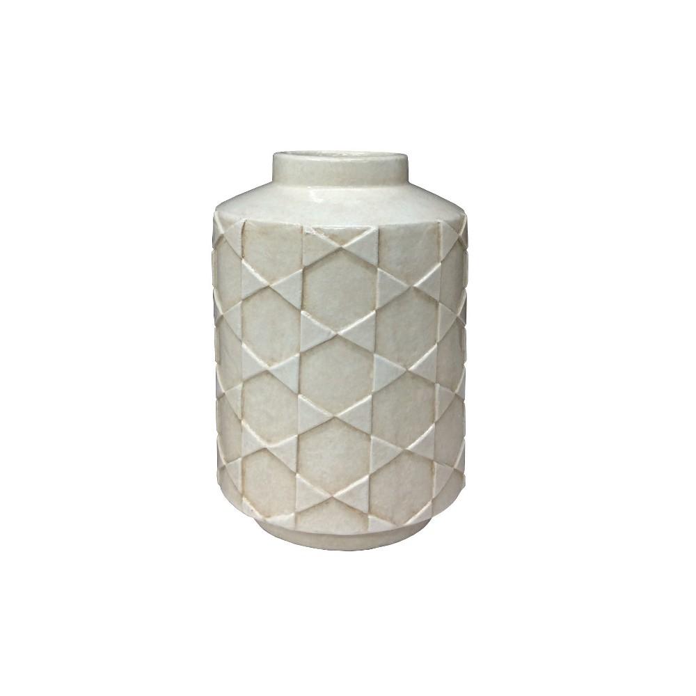 Earthenware Vase Medium - White - Project 62