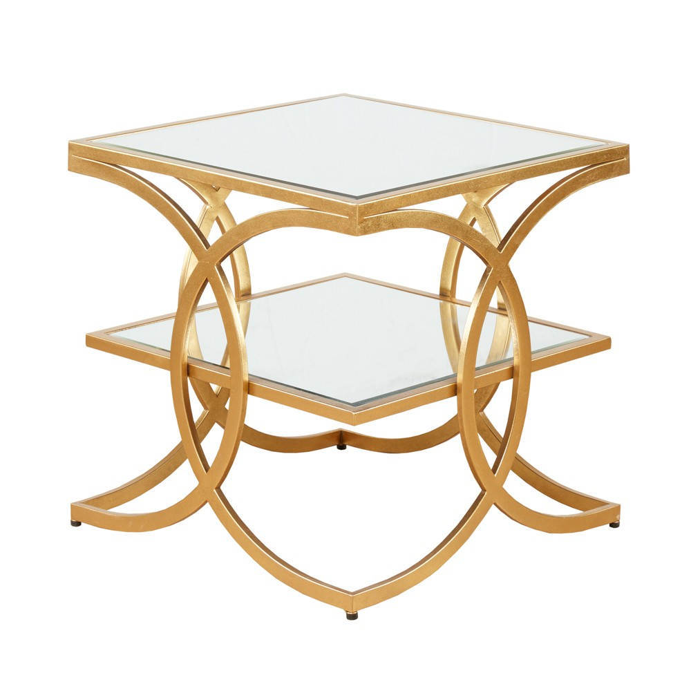 Kyan End Table - Gold, Accent Tables