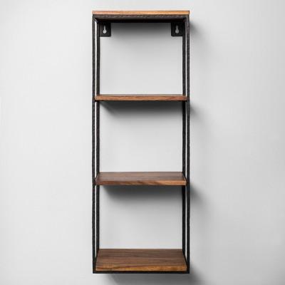 26aaf341325 Decorative Wall Shelf Black Wood - Hearth   Hand™ with Magnolia