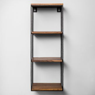Decorative Wall Shelf Black/Wood - Hearth & Hand™ with Magnolia