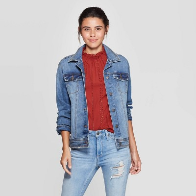 929681f6aebde Women's Essential Solid Denim Jacket - Universal Thread™ Blue