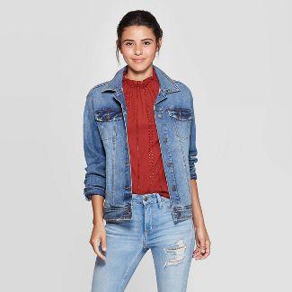Women's Essential Solid Denim Jacket - Universal Thread™ Blue S