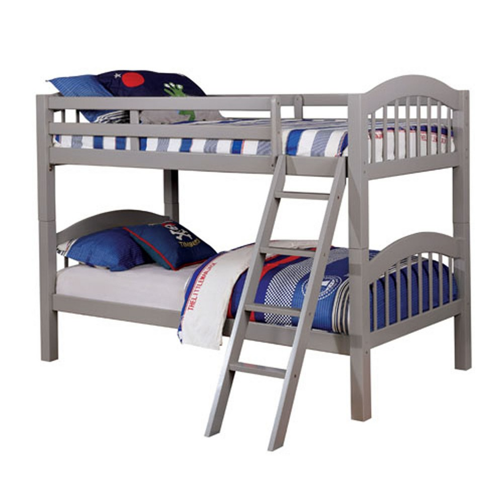 Twin Gary Kids Bunk Bed Over Gray - Homes: Inside + Out
