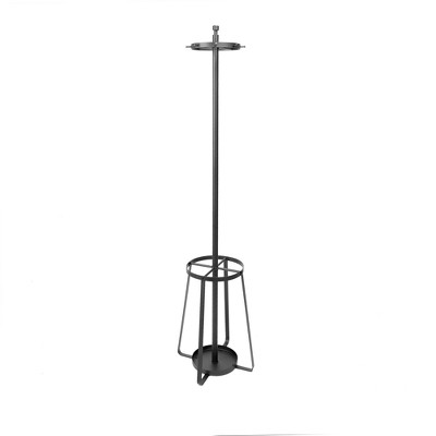 Silverwood 72.5  Lenore Standg Coat Rack With Umbrella Stand Black