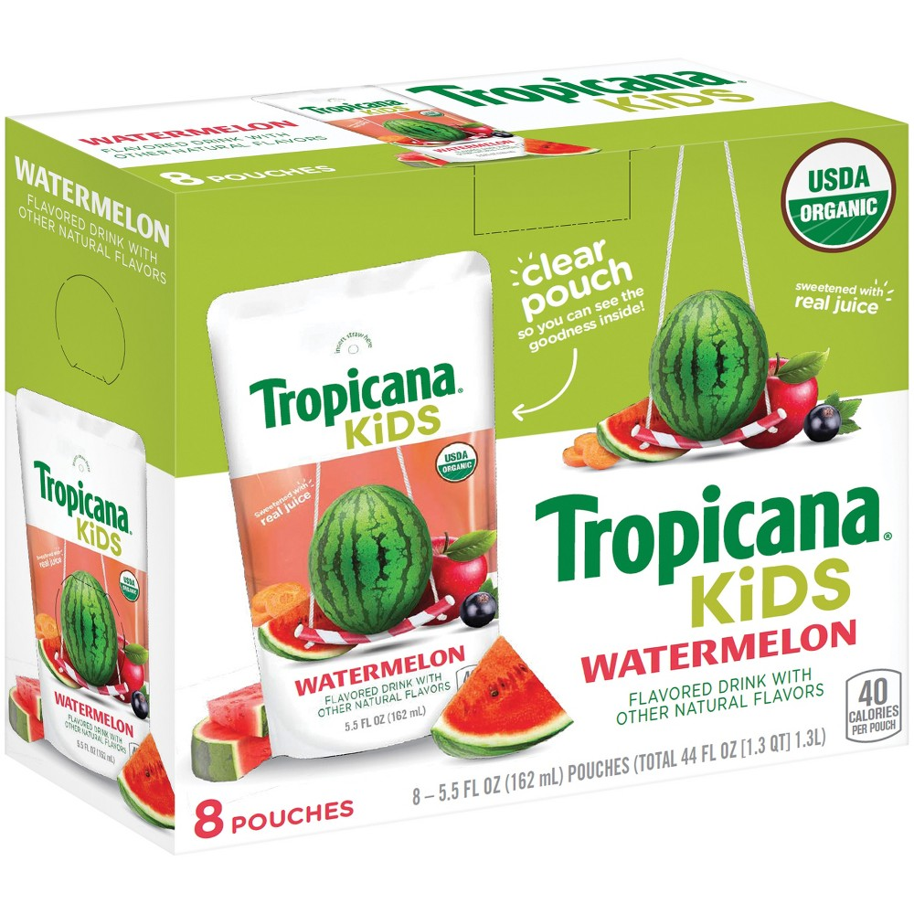 Tropicana Kids Watermelon - 8pk/5.5 fl oz Pouches