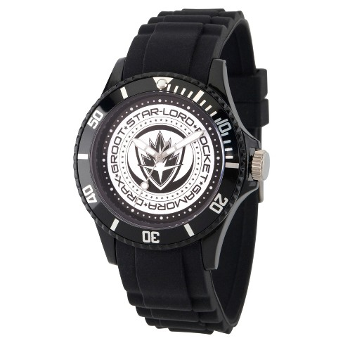 Men's Marvel® Guardians Of The Galaxy Vol. 2 Plastic Watch - Black - image 1 of 2