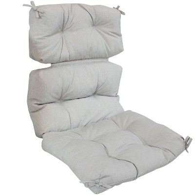 Gray Olefin Indoor/Outdoor Tufted High Back Chair Cushion - Sunnydaze Decor