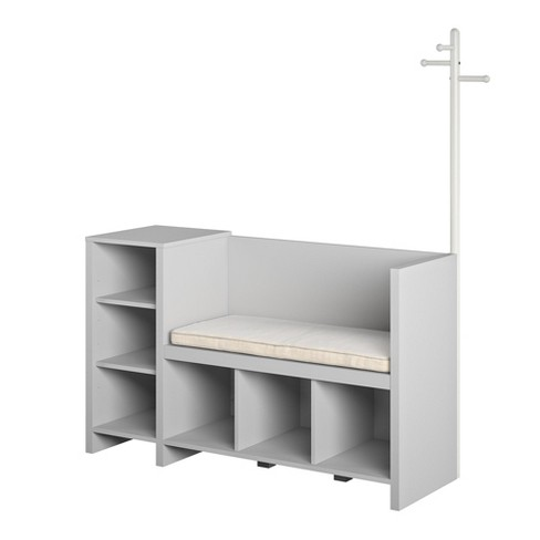 Realrooms Jocelyn Toy Storage Bench And Coat Rack Dove Gray Target