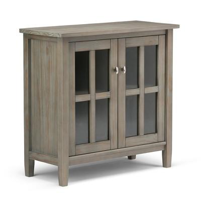"""32"""" Norfolk Solid Wood Low Storage Cabinet - WyndenHall"""