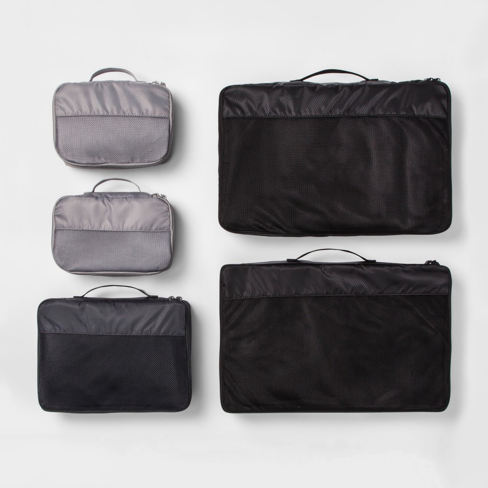 Image of 5pc Packing Cube Set Black - Made By Design
