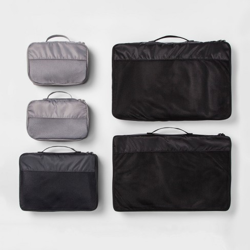 5pc Packing Cube Set Black - Made By Design™ - image 1 of 2