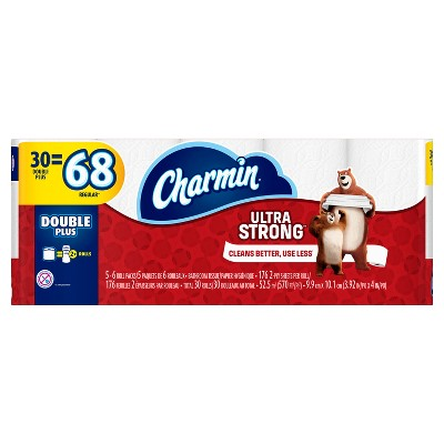 Charmin Ultra Strong Toilet Paper - 30 Double Plus Rolls