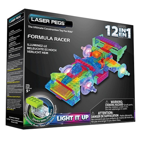 Laser Pegs 12 in 1 Formula Racer Lighted Construction Toy - image 1 of 4