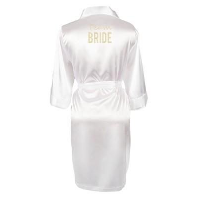 Solid White Satin Robe (Large/X-Large)
