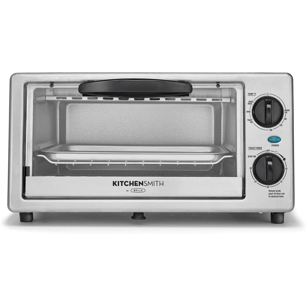 Image of KitchenSmith Toaster Oven Stainless Steel, Medium Silver
