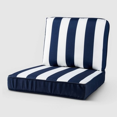 Rolston 2pc Outdoor Replacement Chair Cushion Stripe - Haven Way