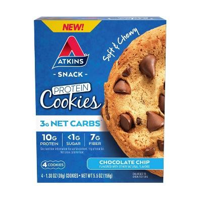 Atkins Cookie - Chocolate Chip - 4pk