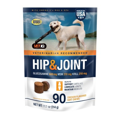 VetIQ Hip & Joint Chewable Supplement For Dogs