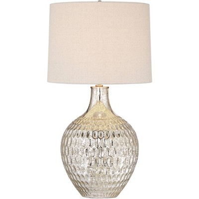 360 Lighting Waylon Mercury Glass Table Lamp with Table Top Dimmer